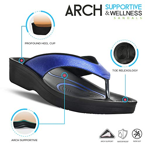 Image of AEROTHOTIC Original Orthotic Comfort Thong Sandal and Flip Flops with Arch Support for Comfortable Walk