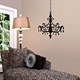 Lot 26 Studio Burnish Chandelier Vinyl Wall Decal, 16 x 24-Inches