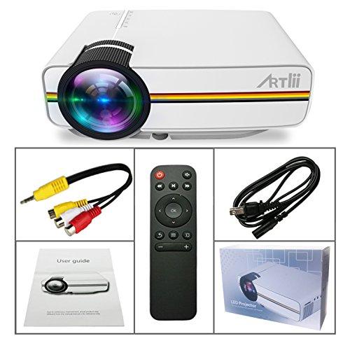 Portable pico projector artlii home theater projector for Pico projector accessories