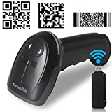 Kercan KR-586 Wireless USB Automatic 2D QR PDF417 Data Matrix Barcode Scanner CCD Bar Code Reader (Wireless + USB 2.0 wired)