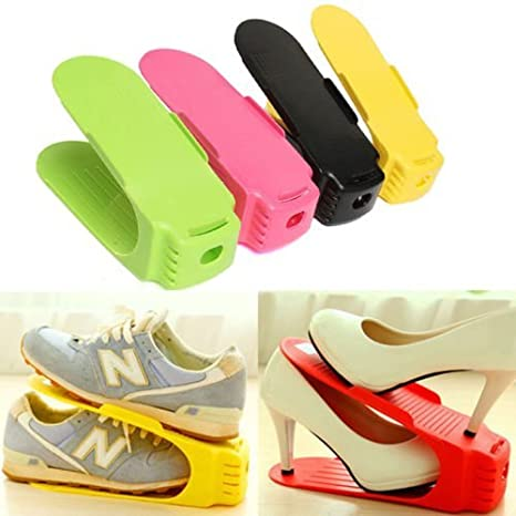 Glive's Plastic Shoes Rack Organizer Stands Shoe Storage Holder Shoe Rack / Shoe Shelf / Shoe Holder Stand  12  Hallway Furniture