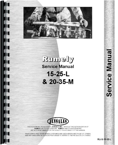 Rumely 20-35-M Oil Pull Tractor Service ()