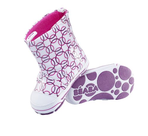 Béaba Rain Boot, Blanc/Rose - Taille 17/18
