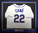 Seattle Mariners Robinson Cano Autographed Signed Framed Cream Majestic Cool Base Jersey Size XL - MCS COA