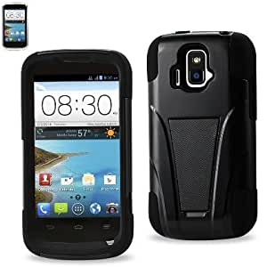 QualityStores® Silicon Case and Protector Cover for ZTE SONATA 4G Z740G - Retail Packaging - Black+ Cleaning Cloth