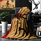 Ralahome Unique Custom Double Sides Print Flannel Blankets Egyptian Decor Illustration Ancient God Sun Ra Old Egyptian Faith Grace Icons Tradi Super Soft Blanketry Bed Couch, Twin Size 70 x 60 Inches