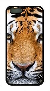 iPhone 5 5S Case Tiger Face TPU Custom iPhone 5 5S Case Cover Black