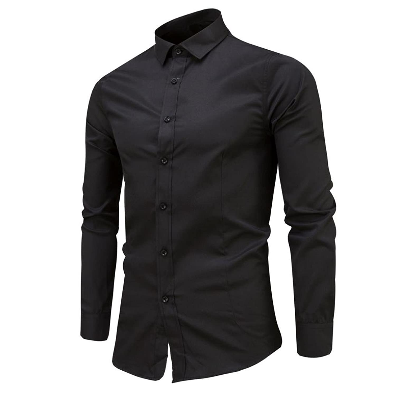 Mens Shirt ,Jamicy Business Casual Slim Fit Long Sleeve Shirt:  Amazon.co.uk: Clothing