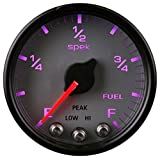 Auto Meter AutoMeter P31222 Gauge, Fuel Level, 2 1/16'', 0-270Ω Programmable, Slvr/Blk, Spek-Pro
