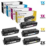 LD Compatible Canon 046H Set of 5 HY Toners: (2) 1254C001 Black, (1) 1253C001 Cyan, (1) 1252C001 Magenta & (1) 1251C001 Yellow for ImageCLASS MF735Cdw, LBP654Cfw, MF733Cdw, LBP654Cdw & MF731Cdw