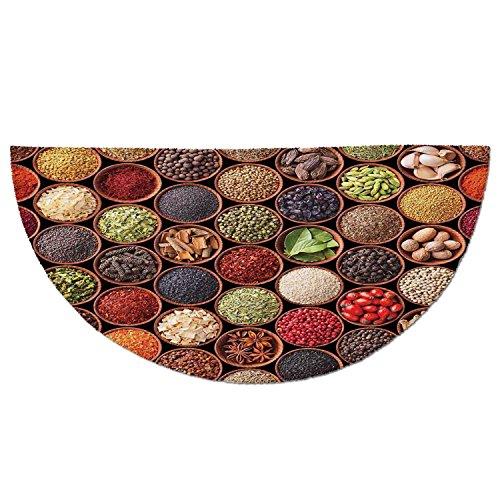 Cheap  Half Round Door Mat Entrance Rug Floor Mats,Modern,Fresh Organic Herbs and Spices..