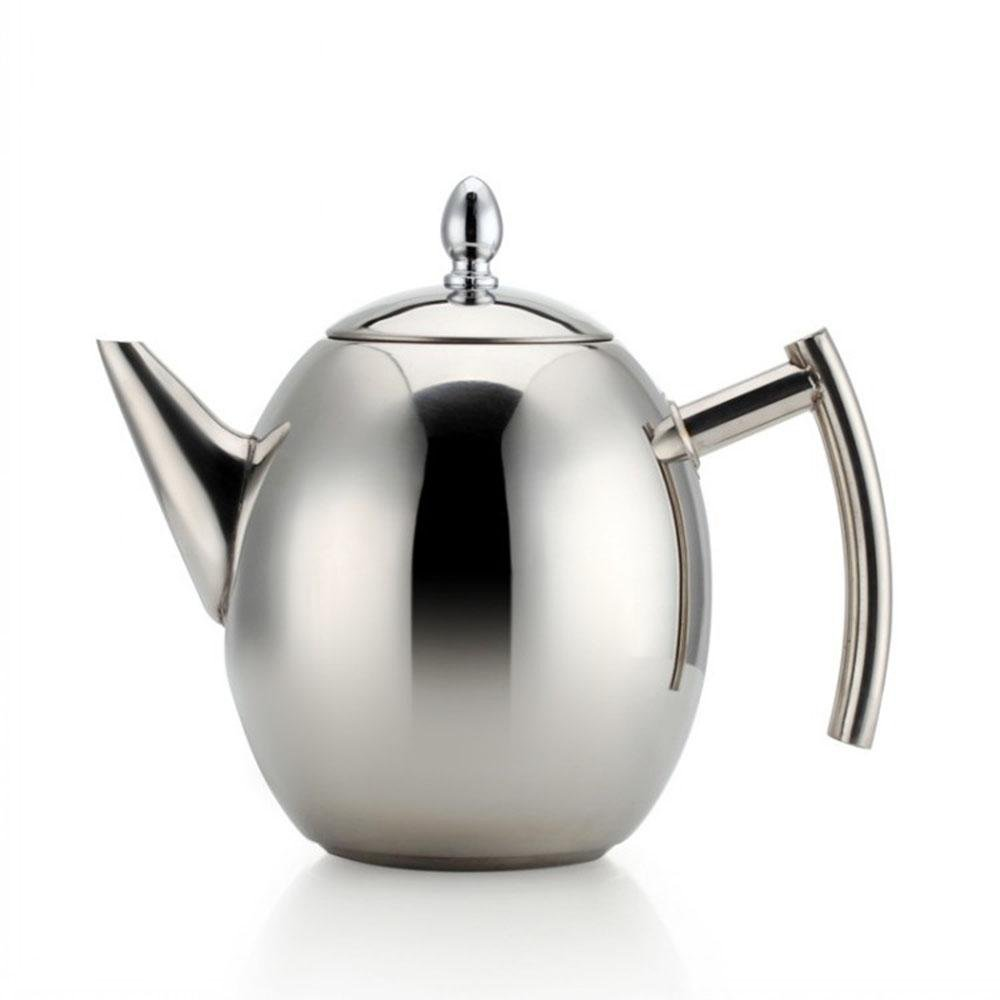 XUEXIN Stainless steel kettle coffee pot with tea strainer tea pot supplies teapot hotel teapot, 1500ml