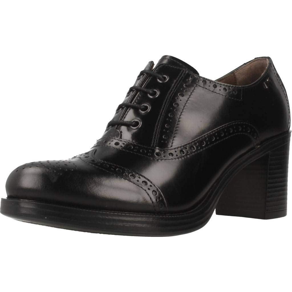 schwarz schwarz schwarz Giardini A806350D, Damen Schnürhalbschuhe Schwarz Schwarz  78c773