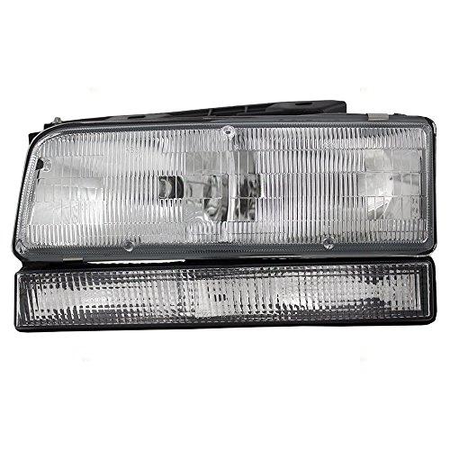 Drivers Combination Headlight Headlamp Replacement fits 92-96 Buick LeSabre 91-96 Park Avenue (Buick Park Avenue Headlight Drivers)
