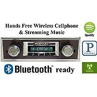 Bluetooth Enabled Stereo for 1967 Pontiac Firebird Walnut Trim USA-630 II High Power 300 watt AM FM Car Stereo / Radio USB, Aux, iPod inputs
