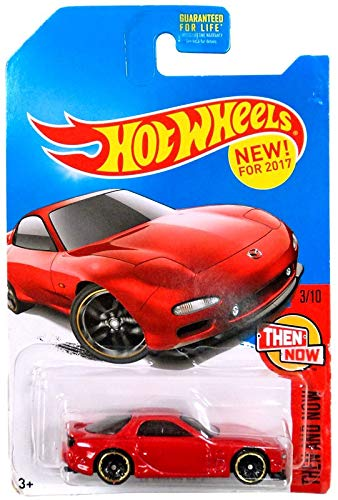 7 Mazda Rx Car Red - Hot Wheels 2017 Then and Now Mazda RX-7, Red