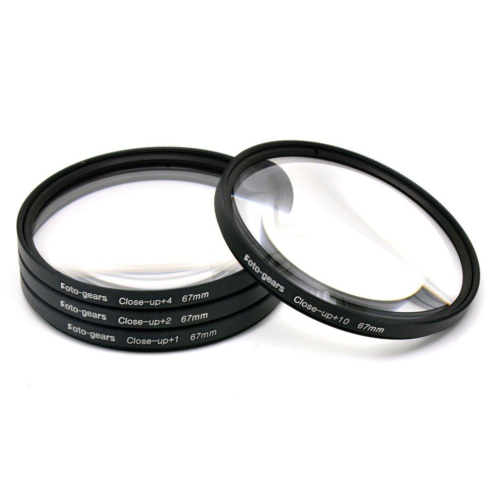 67mm Macro Filter Multi Close-up Lens Filter Macro Close up Lens +1 + 2 +4 +10 Kit by Foto-gears