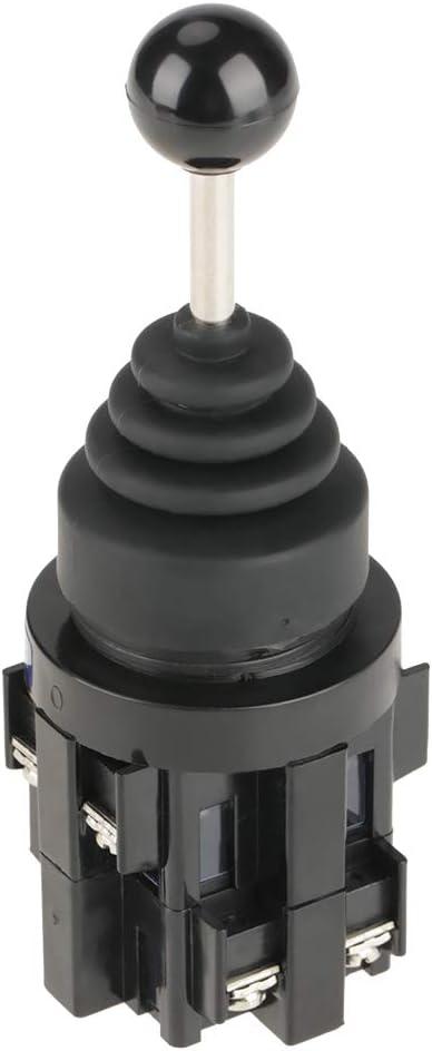 4 positions 4NO Momentan/é avec rappel par ressort Commutateur de joystick pour les circuits de contr/ôle industriels AC 50Hz et DC. Commutateur de joystick