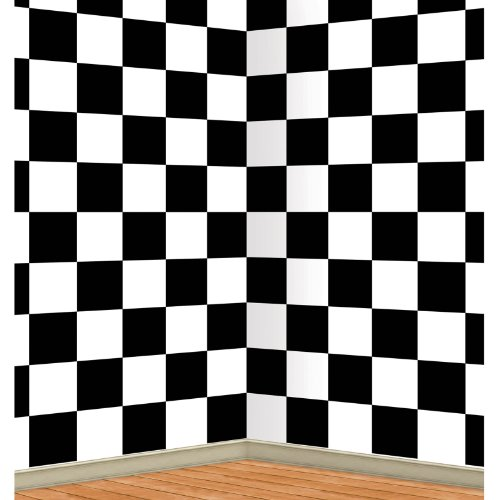 Checkered Backdrop Party Accessory (1 count) (1/Pkg)