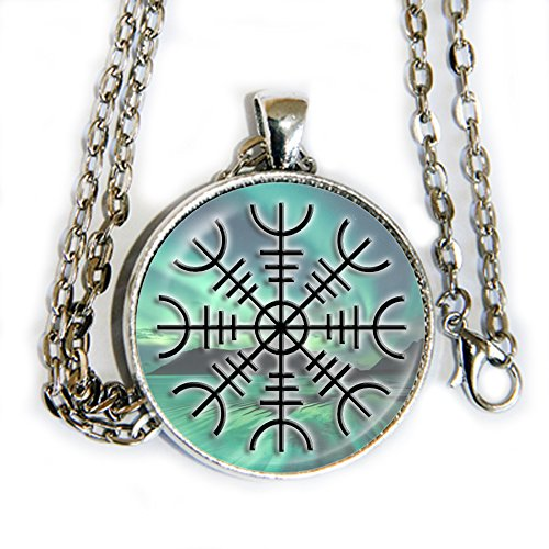Asgardian Costumes (The Helm of Awe - Norse Symbol Of Protection - pendant necklace - HM)