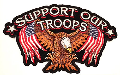 Support our Troops ,American veterans (Respect to all our Vets )Large Big sewing patches,7x11in size . USA American Military, Motorcycle biker style, pow, Mia, American Veteran, American Eagle Vest