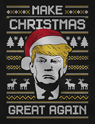 Slim Great Again Da Blu Donna Maglietta Christmas Trump Fit Natalizio Make fZtqwS8