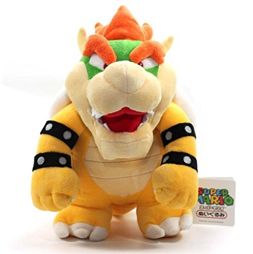 TinTek® 10'' Super Mario Brothers Standing King Bowser Soft Stuffed Animal Plush Doll Figure Toy 10 Inches
