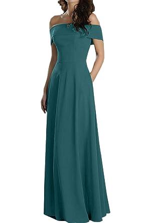 Topkleider Damen Blau Glamour Chiffon Einfach A-Linie Rock Partykleider Lang  Ballkleider Abendkleider  Amazon.de  Bekleidung 3fafcf59f4