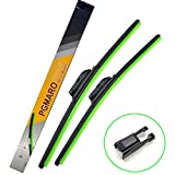 PGMARO Car Windshield Wiper Blade for Ford Fusion Audi Q7 Chevrolet Volt Lamborghini Lotus Benz SL600 SLR CL600 CL550 E320 CLS55 CLS63 Porsche Cayenne Tesla VW Wiper Blade - 26'/26' (Set of 2)