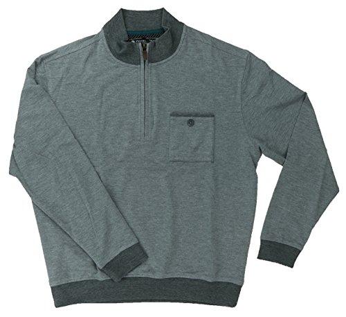 Pebble Beach Men's Performance Golf 1/4 Zip Pullover with Chest Pocket (L, Grey Heather) (Pocket Chest Sweatshirt)