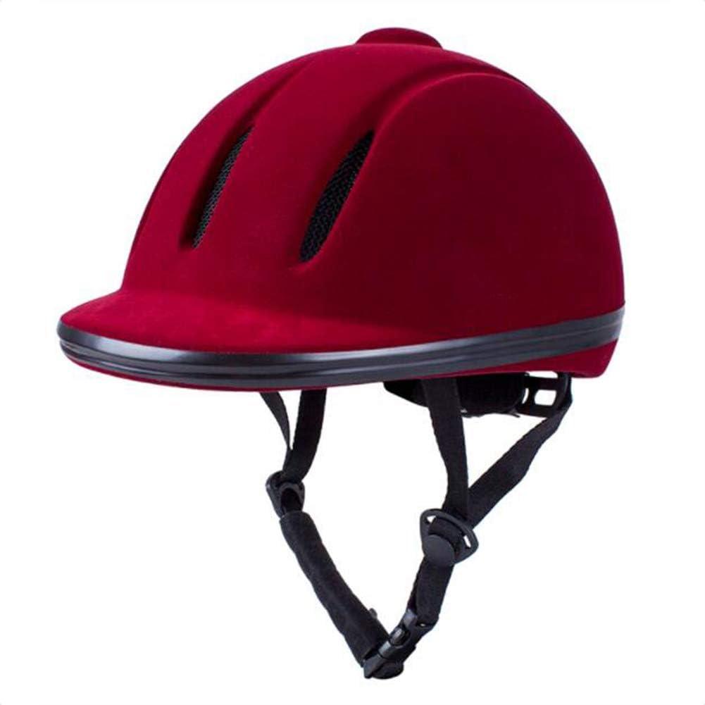 Red Velvet Casco de Equitación Cascos de Polo Ajustable Adecuado ...