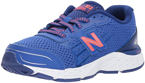New Balance Boy's 680v5 Running Shoe, Pacific/Dynomite, 2.5 W US Little Kid