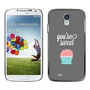 SAMSUNG Galaxy S4 IV / i9500 / i9515 / i9505G / SGH-i337 , Radio-Star - Cáscara Funda Case Caso De Plástico (You'Re Sweet Pastel Cupcake)