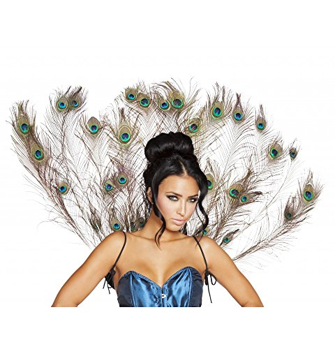Roma Costume Women's Peacock Tail Feather, Multi, One Size -