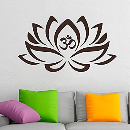 Amazon.com: Mandala Wall Decal Namaste Om Sign with Lotus ...
