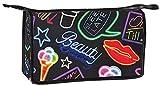 iscream 'Neon Nights' 12.25″ x 8.25″ Neoprene Bold Print Zippered Travel Bag