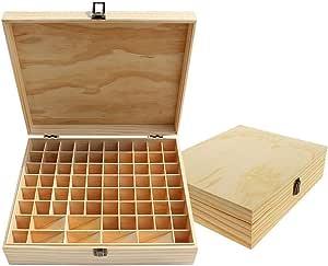 Beunyow 74 Botellas Almacenamiento de Aceite Esencial Caja de Aceite Esencial Organizador de Madera Estuche Portátil Caja de Almacenamiento de Aromaterapia para Almacenar Aceite, Perfume: Amazon.es: Hogar