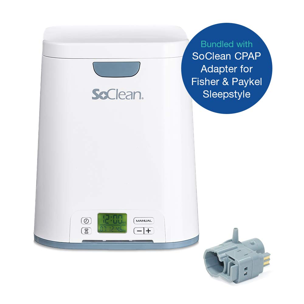 SoClean 2 + Fisher & Paykel SleepStyle Adapter (SoClean 2 CPAP Cleaner and Sanitizer Bundle with Free Adapter)