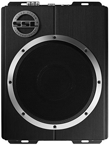 Sound Storm LOPRO10 Amplified Car Subwoofer - 1200 Watts Max Power, Low Profile, 10 Inch Subwoofer, Remote Subwoofer Control, Great For Vehicles That Need Bass But Have Limited Space - 1200 Bass Amplifier