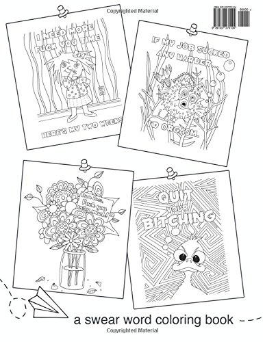 Color Your Resignation A Swear Word Coloring Book 9781537270104 Abby Taylor Books