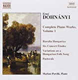: Dohnanyi: Complete Piano Works, Vol. 1