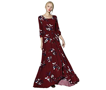 Chicwish Womens Colored Wildflowers Floral Flower Printed Wine Red