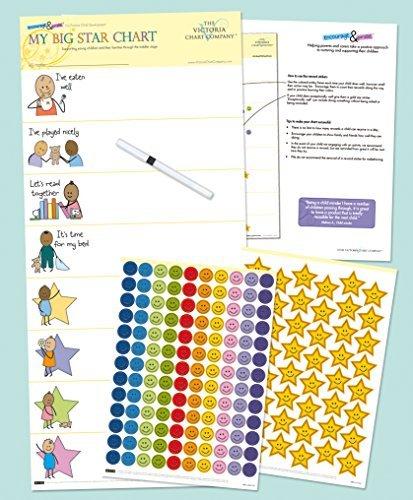 Kids Reward Chart - My Big Star Reward Chart (1yr+) Manage Difficult Toddler Behaviors with Positive Reinforcement Model: US-MBSC