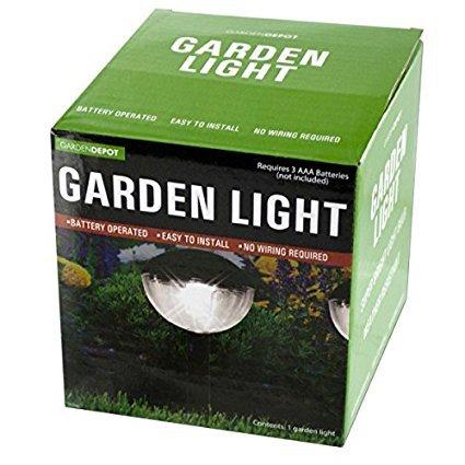 bulk buys OL474 Weather Resistant Garden Dome Light, Transparent/Black