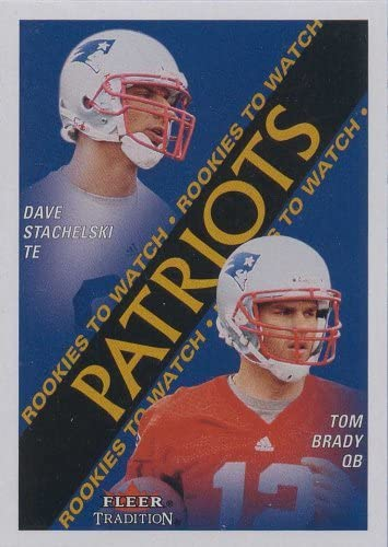 B00115LQ6K Tom Brady 2000 Fleer Tradition Football Rookies to Watch Near Mint to Mint Rookie Card #352 Shipped in Protective Screw Down Holder! 51vk98opOrL.