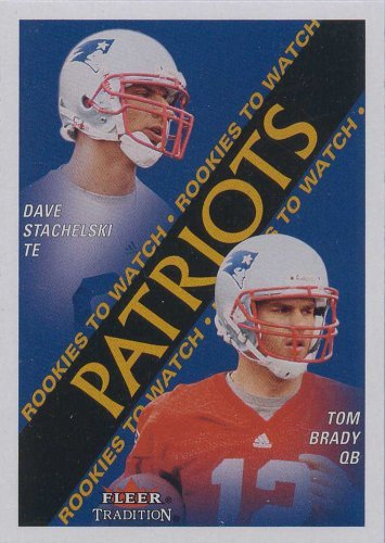 Tom Brady 2000 Fleer Tradition Football Rookies to Watch Near Mint to Mint Rookie Card #352 Shipped in Protective Screw Down Holder! ()