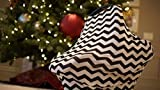 Nursing Cover Scarf by Shirley. Co - Baby Car Seat Canopy, Shopping Cart, Stroller, Carseat Covers - Great Multi-Use Cover Shawl (Black & White Chevron)