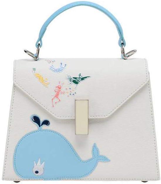 New Cute Portable Messenger Bag Shoulder Girl Small Square Bag Womens Handbag Totes Work Shopping Date Top-Handle Bags Color : G, Size : 20815cm Qzny Lady Cross-Body Bag