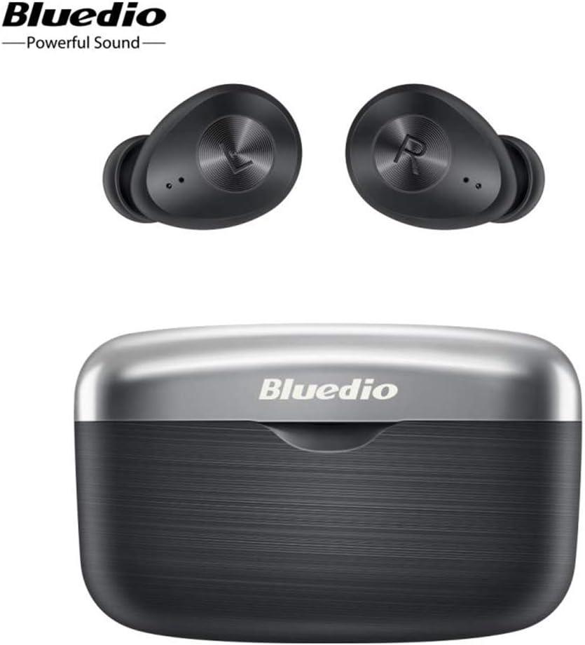 Auriculares inalámbricos Bluetooth FI TWS con chip Qualcomm de baja latencia con funda de carga y auriculares