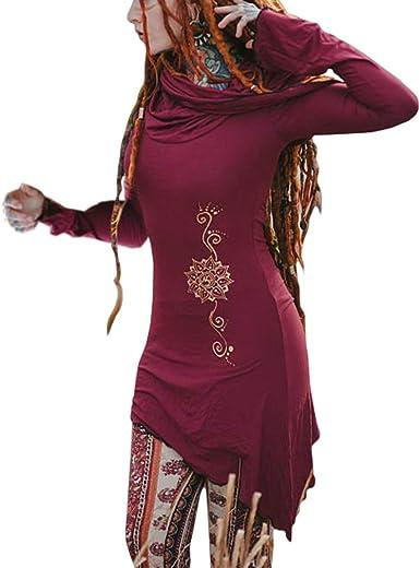 Mujer Medieval Camisa Renacimiento Victoria Largo Camisa Slim Fit Color Sólido T-Shirt Top Retro Elástica Blusas Tamaño Grande S-5XL: Amazon.es: Ropa y accesorios